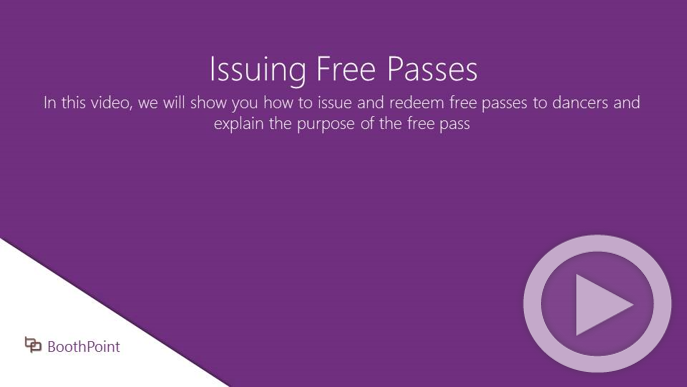 Issuing Free Passes