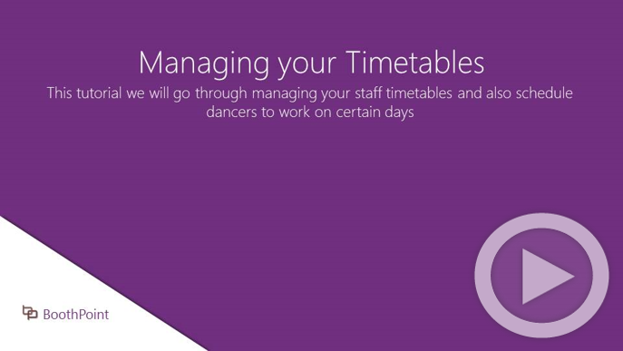Managing your Timetables